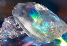 Holographic Quartz Crystals Stock Photography