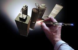 Holographic skapelser royaltyfri illustrationer