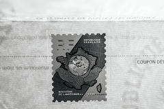 Holographic stamp on the official document of Ministry of Interi Royalty Free Stock Images