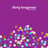 Holographic stars background Royalty Free Stock Images