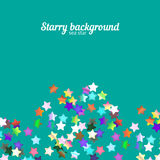 Holographic stars background Stock Images