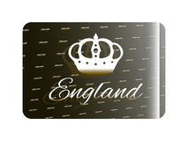 Holographic sticker England. Holographic sticker with the image of a crown and the inscription England Stock Photos