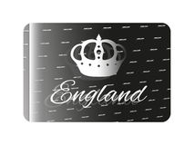 Holographic sticker England. Holographic sticker with a symbol of England Stock Image