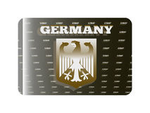 Holographic sticker Germany. Holographic sticker with the coat of arms of Germany Stock Photography
