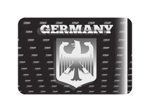Holographic sticker Germany silver Royalty Free Stock Image