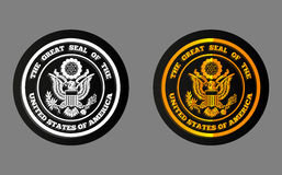 Holographic sticker USA. Holographic sticker with the image of the great seal Royalty Free Stock Photography