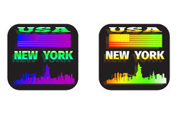 Holographic sticker USA. New York Stock Photography