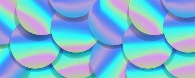Holographic stor sequined tygtextil, rosa lilor och violetlila som glittrar paljetter Paljetttextur Arkivbild