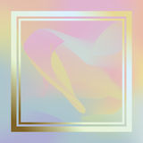 Holographic trendy background. Royalty Free Stock Image
