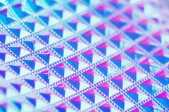Holographic ultraviolet creative geometric background with selective focus