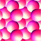 Holographic vector seamless background. Gradient sphere shapes. Colorflul repeatable pattern with vivid neon colors and. Fluid effect. Bright geometric backdrop Royalty Free Illustration