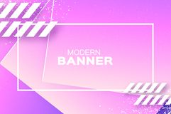 Holographic wave background in paper cut style. Origami Layered shapes composition. Dynamic curve line. Space for text vector illustration