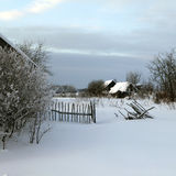Holoholnya village in Russia in winter time. Upper Volga region. Holoholnya village in Russia in winter time Stock Image