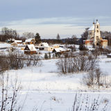 Holoholnya village in Russia in winter time. stock photos