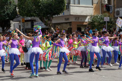 Holon Adloyada. Carnaval de Purim. Israël Photographie stock libre de droits