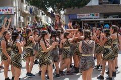 Holon Adloyada. Carnaval de Purim. Israël Images stock