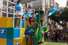 Holon Adloyada. Carnaval de Purim. Israël Photos libres de droits