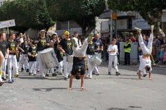 Holon Adloyada. Carnaval de Purim. Israël Images libres de droits