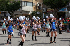 Holon Adloyada. Carnaval de Purim. Israël Photo libre de droits