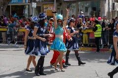Holon Adloyada. Purim Carnaval. Israël Stock Afbeelding