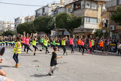 Holon Adloyada. Purim Carnaval. Israël Stock Foto