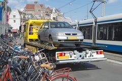 Holownicza ciężarówka miastowa Fotografia Stock