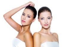 Holownicze piękne seksowne kobiety Obrazy Stock