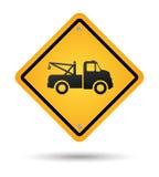 Holowniczy drogowy znak ilustracji