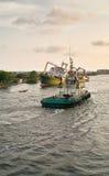 Holownik łódź fotografia stock