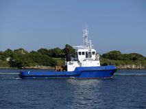 Holownik łódź w operacjach Zdjęcie Royalty Free