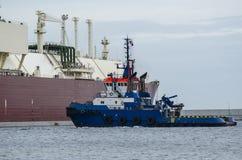 HOLOWNIK końcówki LNG tankowiec zdjęcia stock