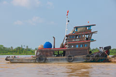 Holownik na Mekong rzece Fotografia Stock