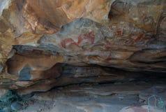 Holschilderijen en rotstekeningen Laas Geel dichtbij Hargeisa Somalië Royalty-vrije Stock Afbeelding