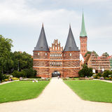 Holstein Gate. (built in 1478), Lubeck, Germany Stock Photo