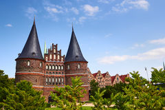 The Holstein Gate (Holstentor) in Lubeck Stock Photography
