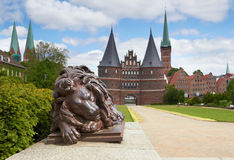 Holstein Gate, Lubeck, Germany Stock Photography