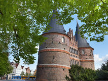The Holstein Gate in Lubeck, Germany Royalty Free Stock Photography