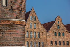 Holstein gate and salt storehouses in Lubeck Stock Photography