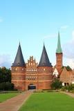 Holsten门,吕贝克,德国 免版税库存图片