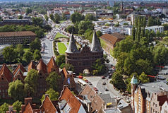 Holsten Gate in the Hanseatic City of Luebeck Stock Photo