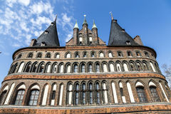 The Holsten Gate (Holstentor) in Lübeck Royalty Free Stock Photography