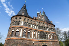 The Holsten Gate (Holstentor) in Lübeck Royalty Free Stock Images