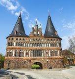 The Holsten Gate (Holstentor) in Lübeck Stock Images