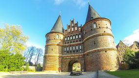 Holsten Gate Holstentor in Lubeck, Germany stock video footage