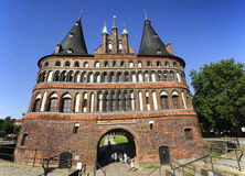 The Holsten Gate (Holstentor), Lubeck, Germany Royalty Free Stock Images
