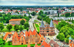 The Holsten Gate or Holstentor in Lubeck old town, Germany Stock Photo
