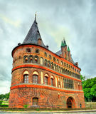 The Holsten Gate or Holstentor in Lubeck old town, Germany Royalty Free Stock Photo