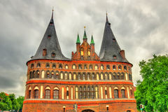 The Holsten Gate or Holstentor in Lubeck old town, Germany Stock Photography