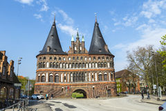 Holsten Gate (Holstentor) in Luebeck Stock Images
