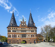 Holsten Gate (Holstentor) in Luebeck Royalty Free Stock Photos
